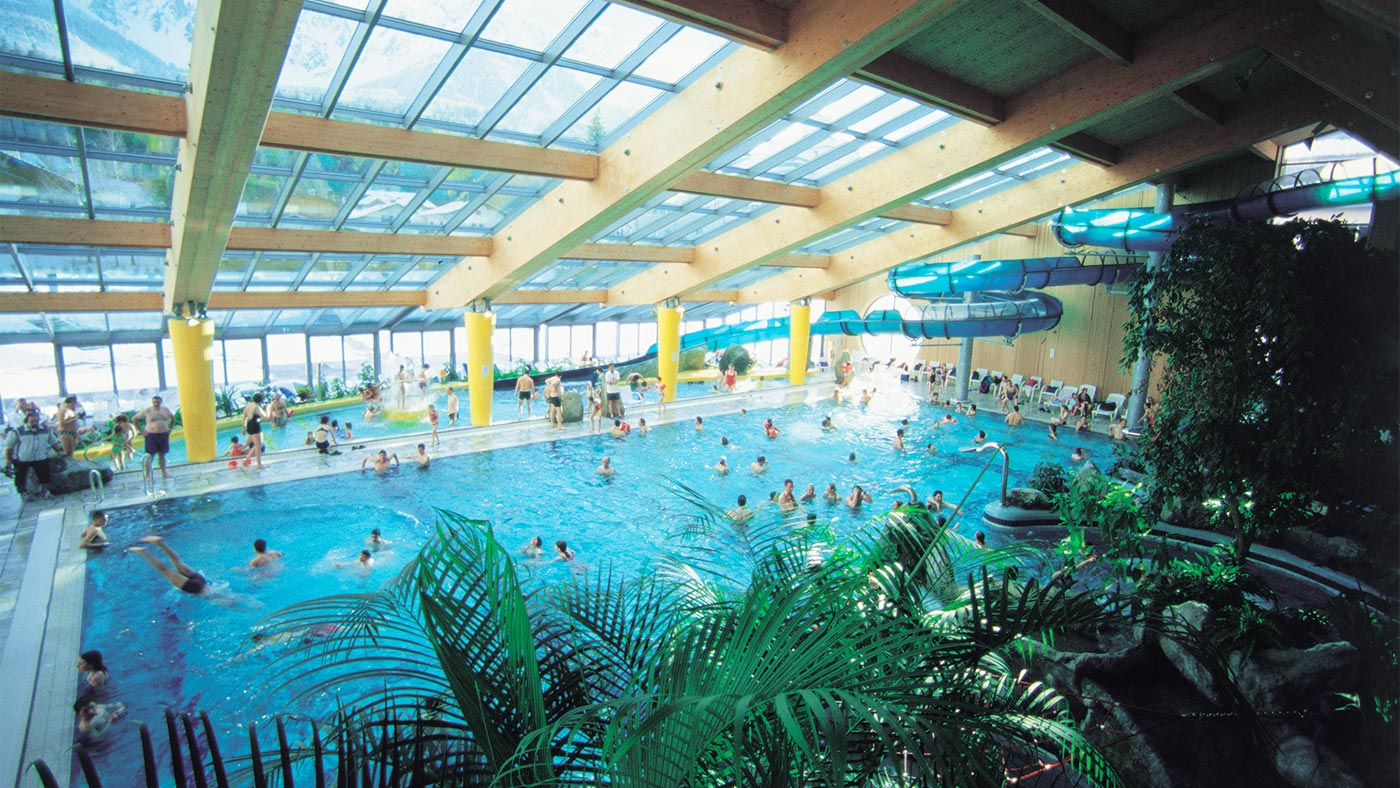 The indoor swimming pool of Acquafun in San Candido