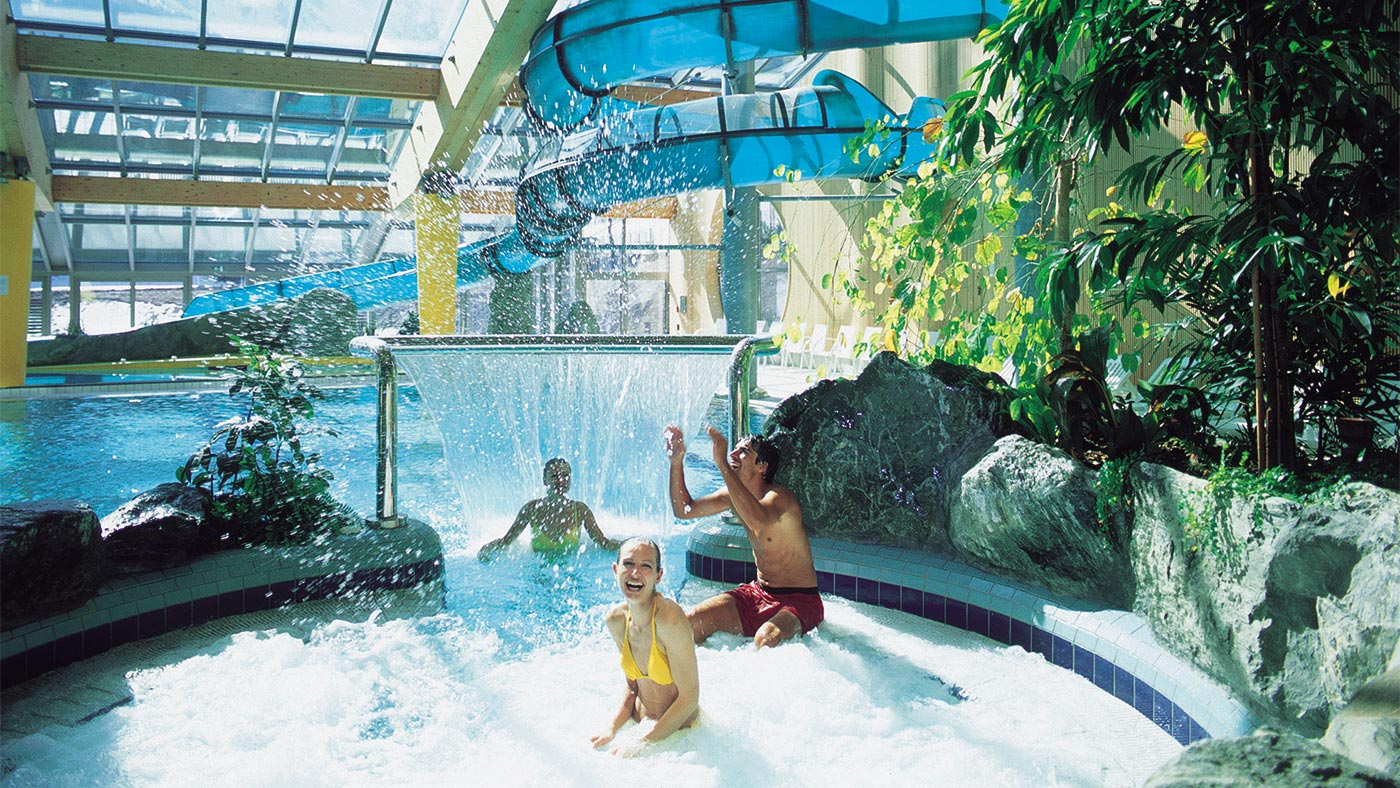 The hydromassage pool in Acquafun in San Candido