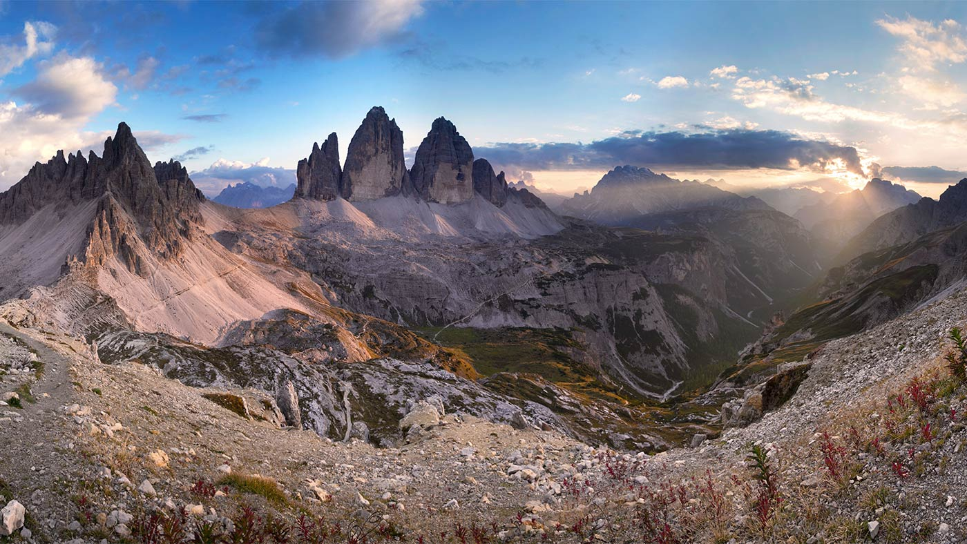 Beautiful view of the Tre Cime / Drei Zinnen and the surrounding nature